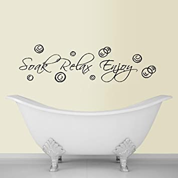 Amazoncom SOAK RELAX ENJOY  WALL DECAL HOME DECOR  X - Wall decals relax