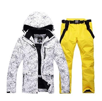 Skianzug Winddichte Skijacke f/ür Herren Wasserdicht Warm Outdoor