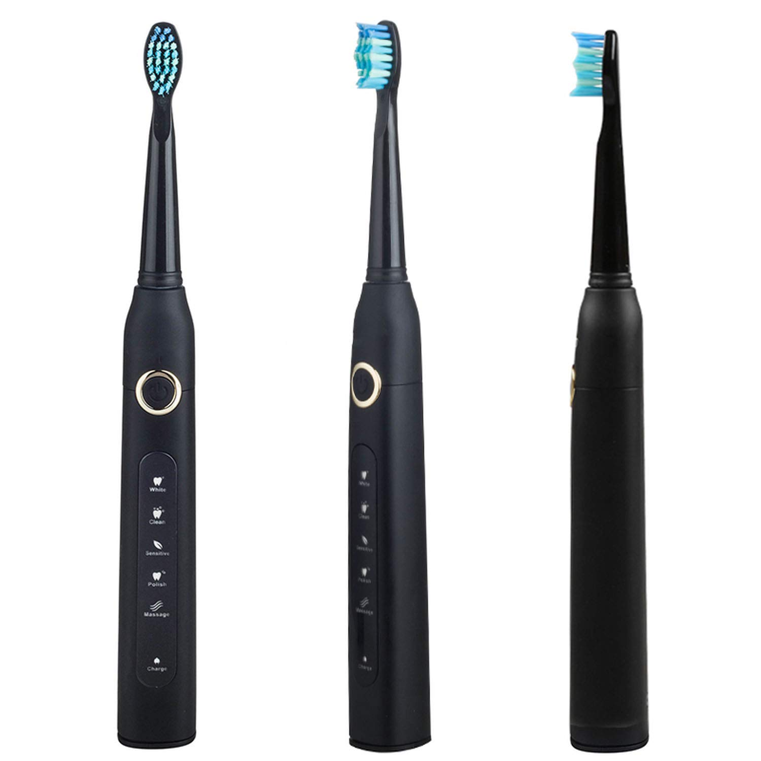 Amazon.com: Sonic Electric Toothbrush USB Charge Rechargeable Tooth Brushes Value Spree Mysterious Birthday Gift Surprise Christmas Day,Black: Beauty