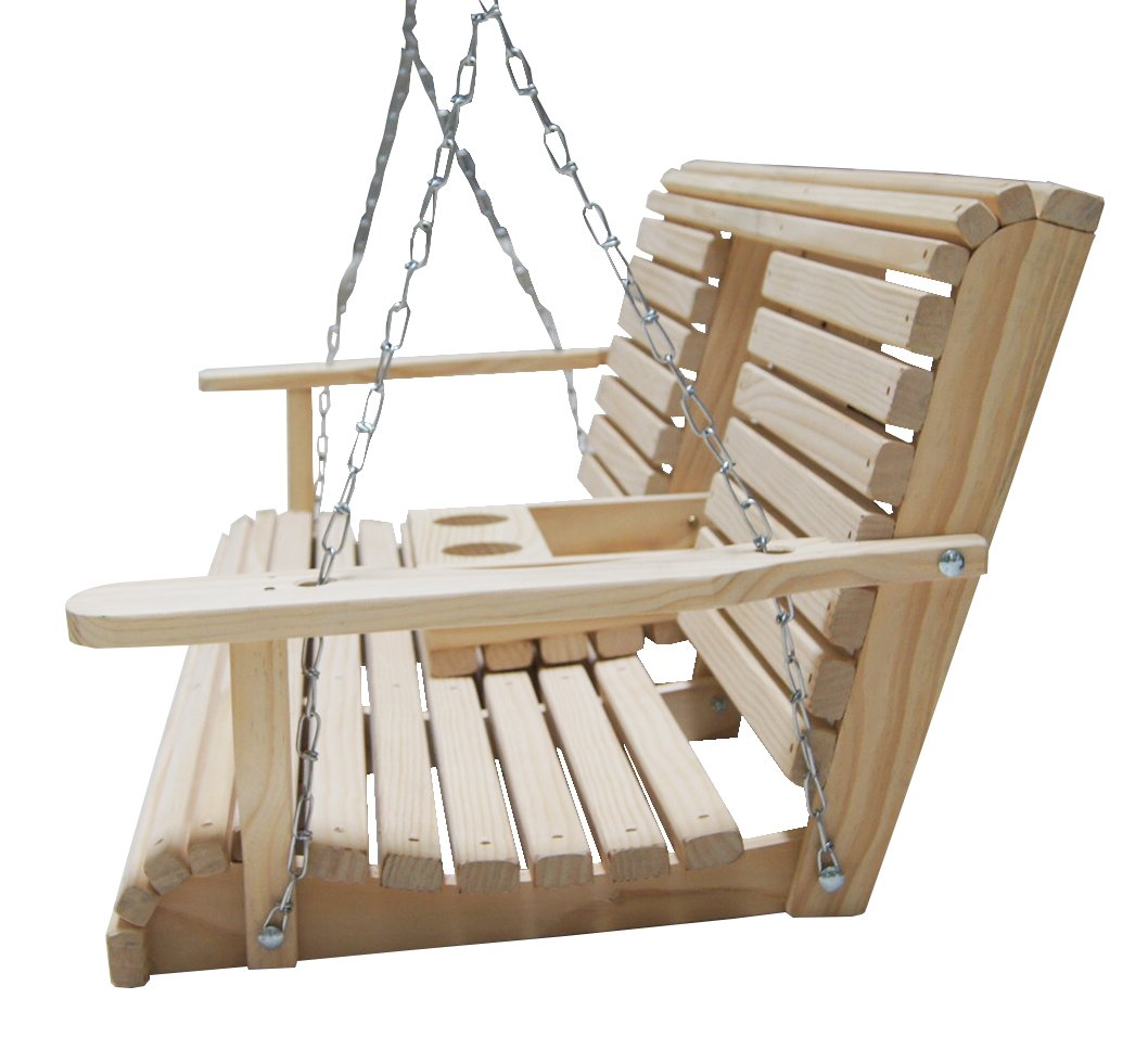 Amazon.com : 5 Ft Cypress Flip Cup Holder Swing : Porch Swings ...