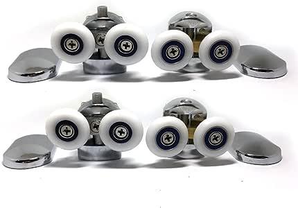 Juego de 4 ruedas para mampara de ducha (cromadas, para cristales de 4-6 mm): Amazon.es: Bricolaje y herramientas