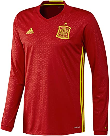 Adidas Spain Home Long Sleeve Jersey [SCARLE/BYELLO] (XS): Amazon.es: Deportes y aire libre