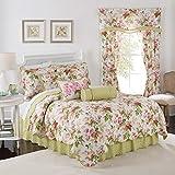 Waverly Emma's Garden Quilt Set, 90x104, Blossom