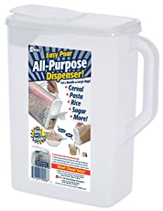 Dry Food Storage Container |8 Quart| Holder and Keeper for Cereal, Flour, Oatmeal, Rice, Pasta and More: Air-Tight Lid to Securely Store Food; BPA Free and Made in USA - Buddeez ALL-PURPOSE DISPENSER