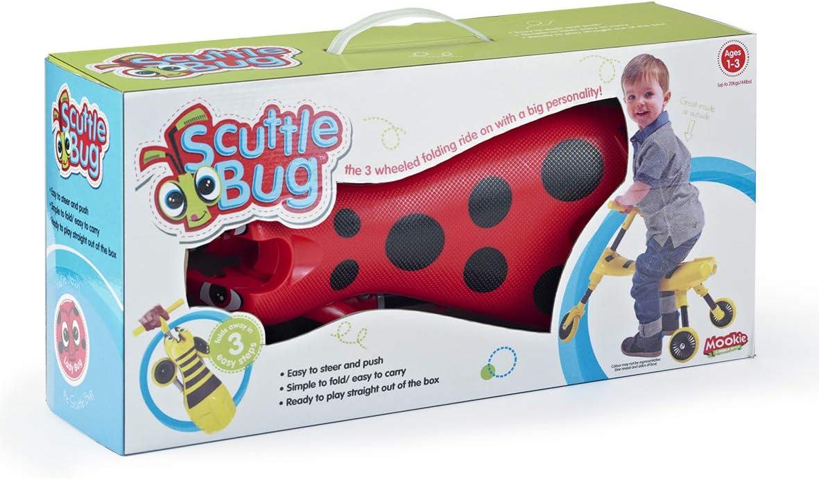 Scuttlebug 8540 color rojo y negro Correpasillos con 3 ruedas y dise/ño de insecto