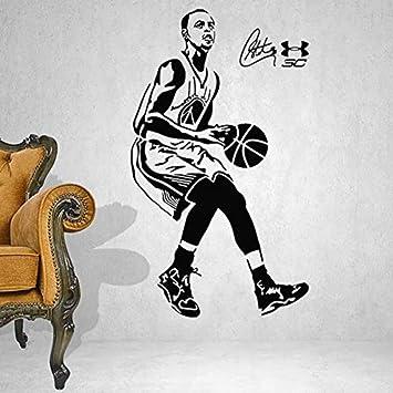 Pegatinas de pared Estrella de baloncesto Stephen Curry Sports S ...