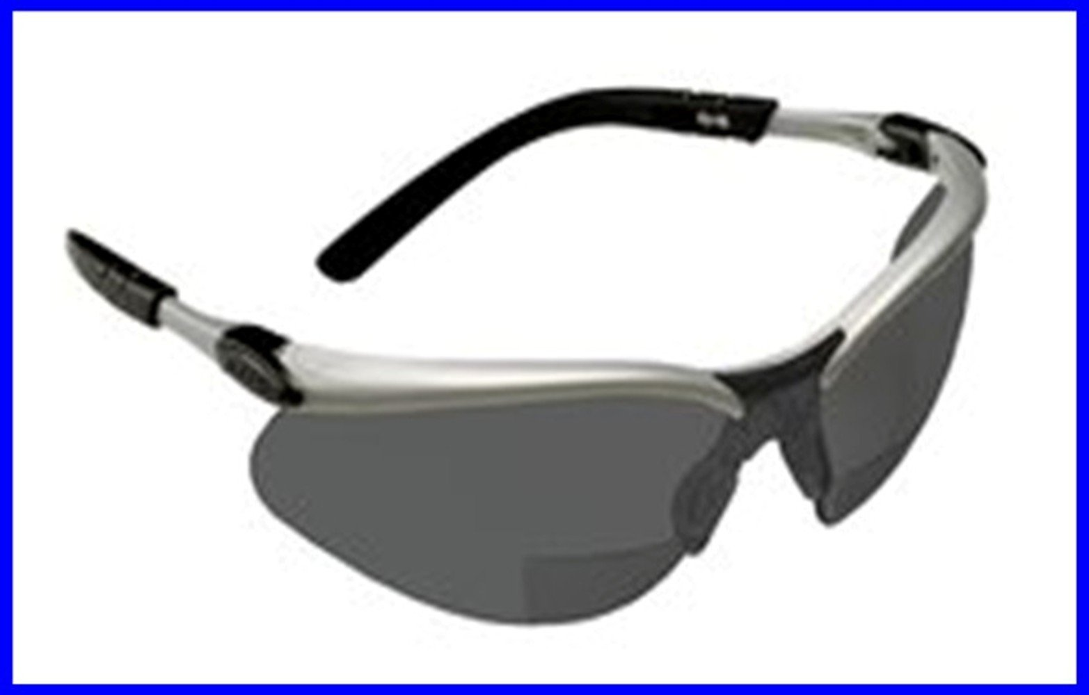 3M BX Reader, 2.5 Diopter Safety Glasses, Tinted, Anti-Fog UV Absorbing Polycarbonate Lenses, Wraparound Unopstructed Viewing Range (1 pair)