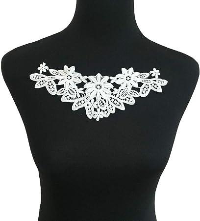 Cotton Embroidered Neckline Baby//Girls Neck Collar Trim Clothes Sewing Appliqué