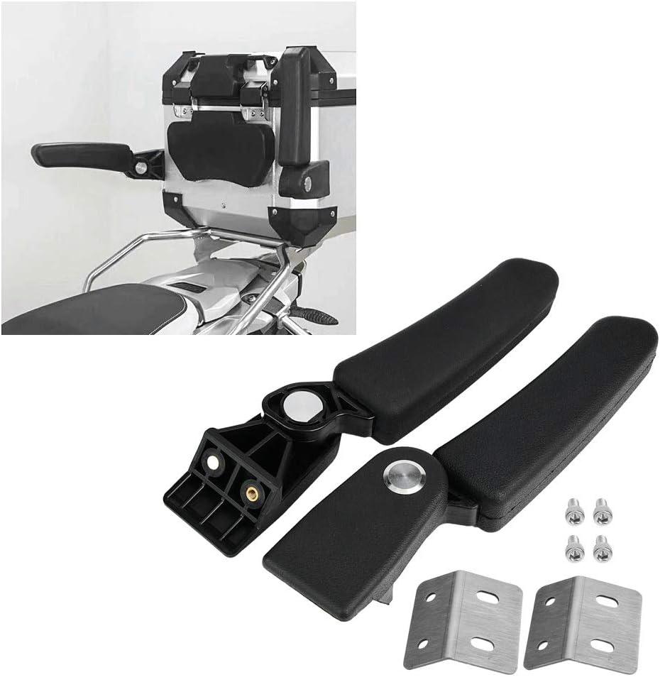 Motorcycle Passenger Rear Folding Top Case Box Rear Seat Armrest Compatible with BMW Yamaha KTM Motorcycle Box Armrest