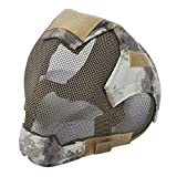 SODIAL Outdoor Airsoft Mask protective full-face fencing Steel Mesh mask