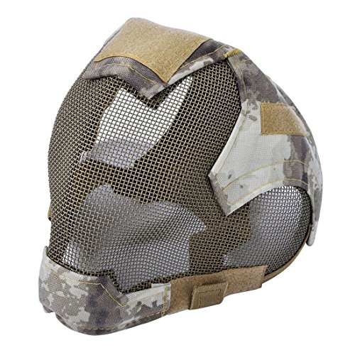SODIAL Outdoor Airsoft Mask protective full-face fencing Steel Mesh mask by SODIAL