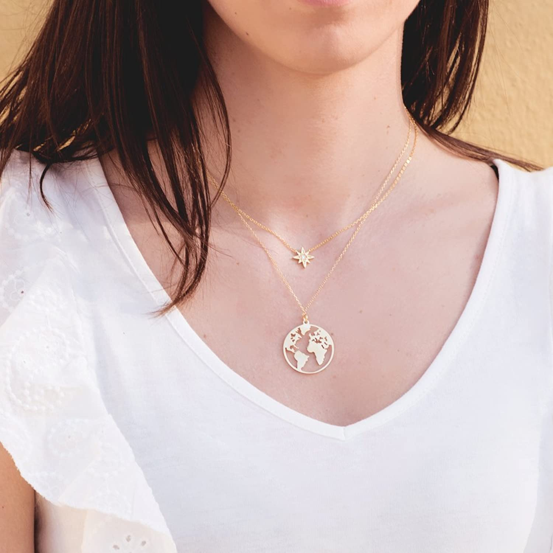 Iyé Biyé Jewels - Collar mujer niña plata de ley 925 bola mundo 25 ...