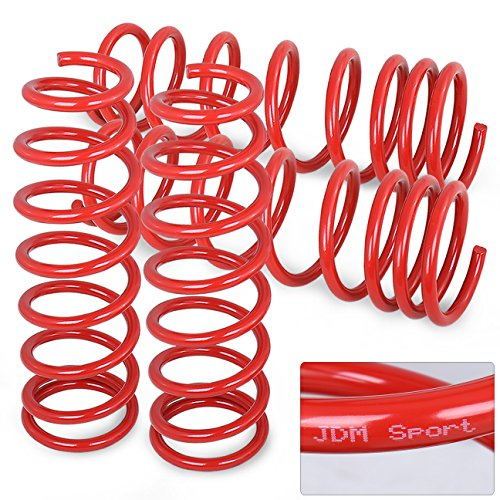 Jdm Red Suspension Lowering Coiled Springs Set For ()