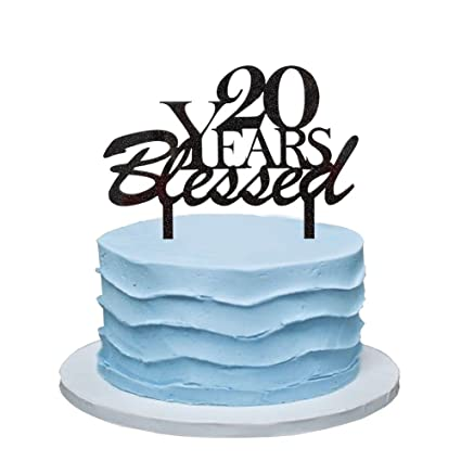 Amazon 20 Years Blessed Cake Topper 20th Birthday Party