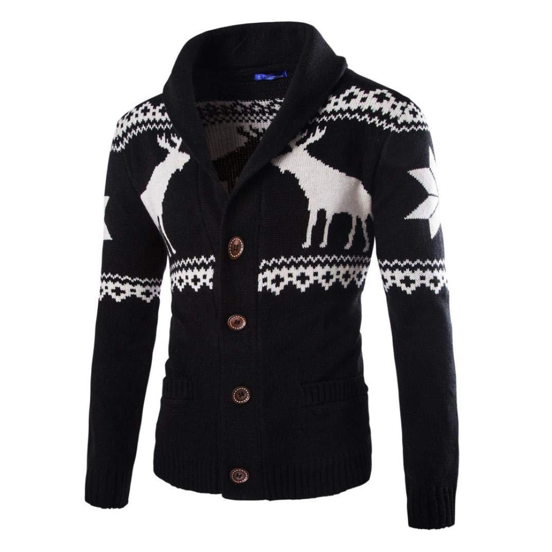 Sharemen Mens Knitwear Sweatshirt Christmas Long Sleeve Tops Outwear