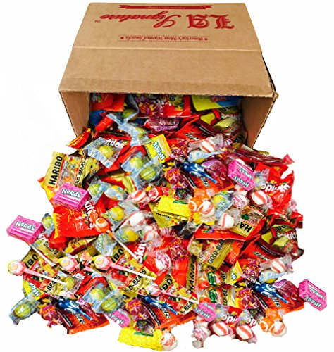 Assorted Classic Candy - Huge PARTY MIX Bulk BOX! net weight 100 oz/6.25 LB (Party Mix, 6.25lbs) Includes Skittles, Starbursts, Jolly Rancher, Dubble Bubble, Twizzlers, (Candy Net)