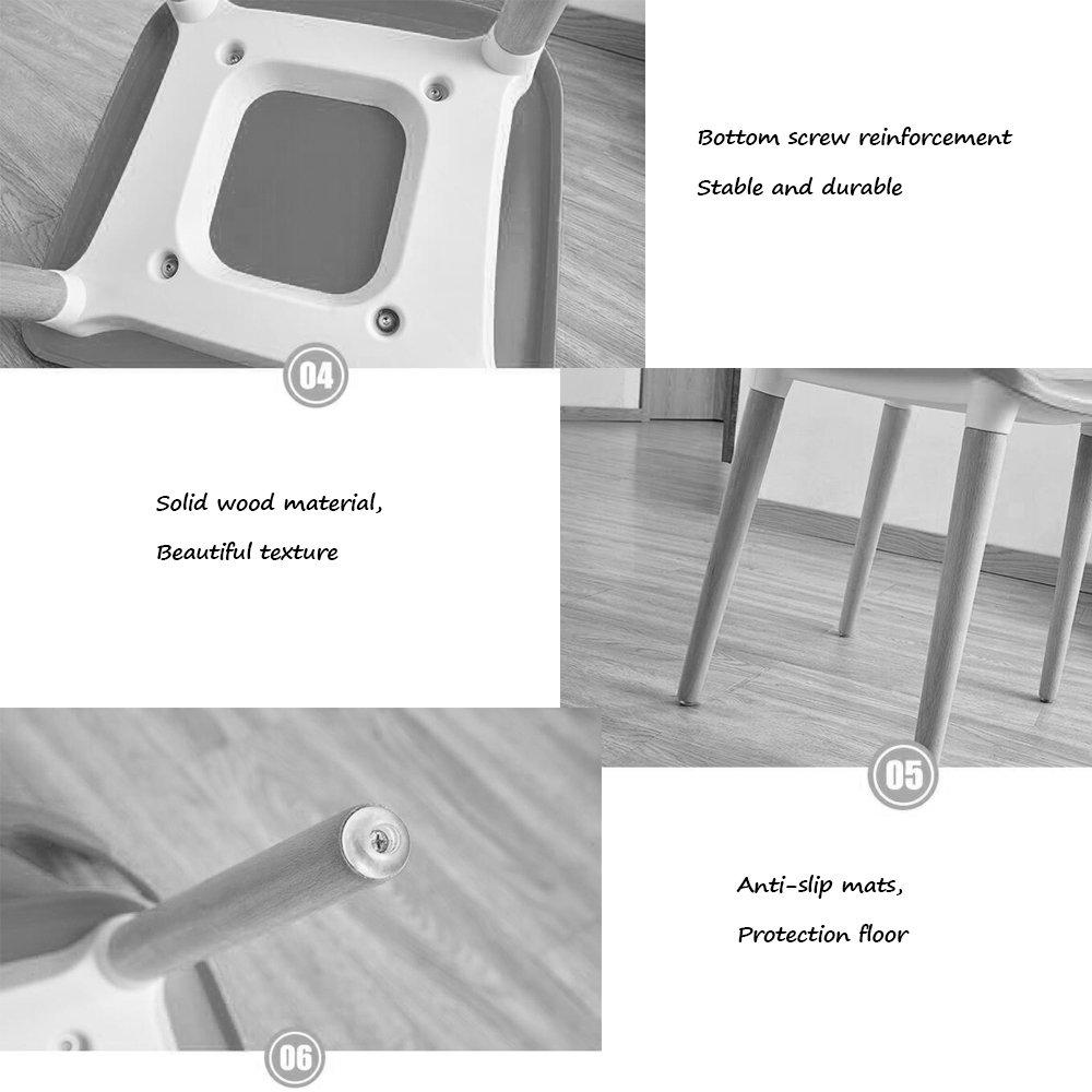 Stol, fritidsstol i plast, skrivbordsdator pall, med fåtölj, vuxen matstol 48 x 42 x 85 cm (färg: GRÖN) Vitt