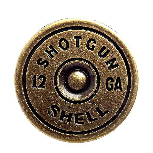 Brass Plated Shotgun Shell Cap Screwback Conchos