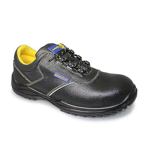 Auda - Calzado de protección de Piel para hombre, color negro, talla 42