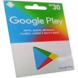 Cartão pré-pago Google Play 30 reais