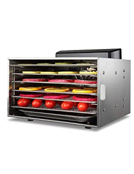 Deshidratador Eléctrico de Alimentos, Alimentos Deshidratados, Secado con Aire Caliente, Temporizador, Temperatura