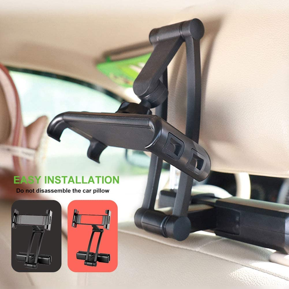 """RED Woopower Stretchable Car Backseat Seat Mount//Tablet Headrest Holder Universal 360/° Rotating Adjustable for All 5/""""-13 cellphones//Tablet Switch iPad iPad Air iPad Mini,ect Car Headrest Mount"""