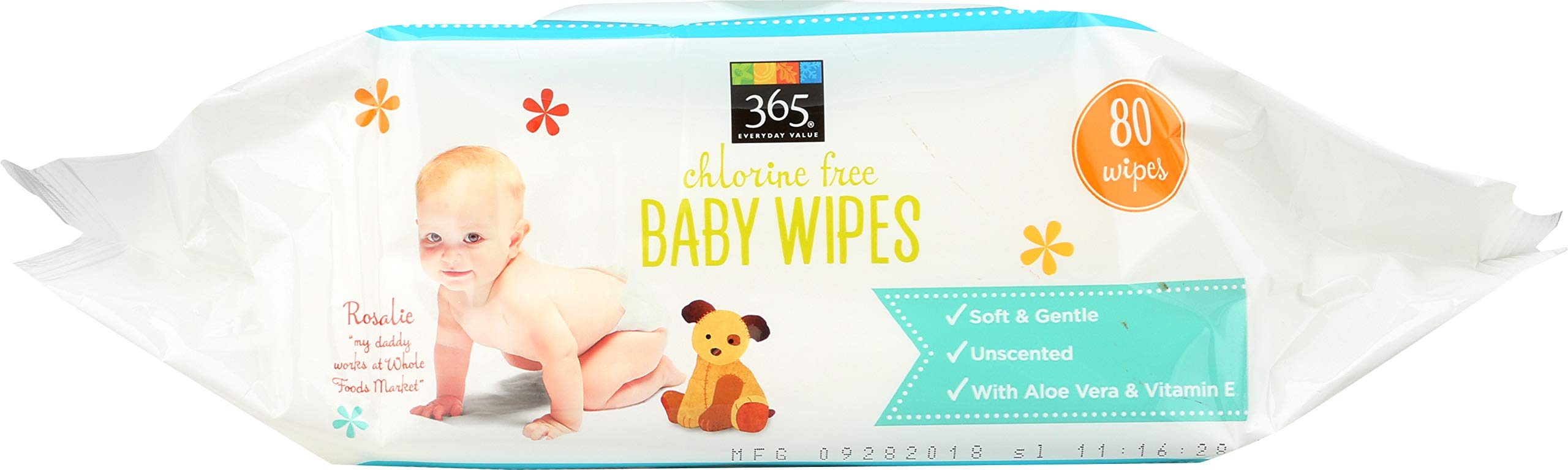 365 Everyday Value, Baby Wipes Refill Size, 80 Count