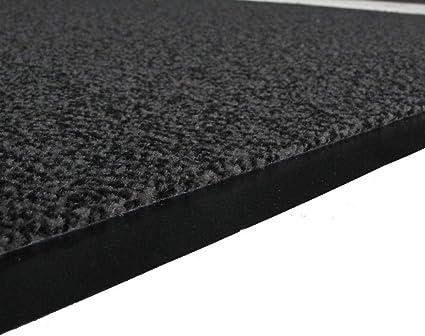 The Rug House Grey Non Slip Washable Dirt Stopper Kitchen Hallway Mats Nova 40x60cm