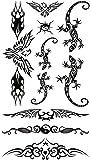 タトゥーシール 長持ち ボディーシール・刺青シール 動物 トライバル ヤモリ TATTOO /hm430/