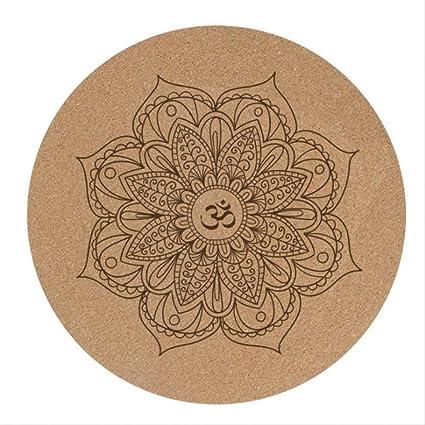 Amazon.com : zfsw 3 Mm Round Cork Yoga Cushion, Mandala Yoga ...