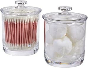 STORi 15 Ounce Premium Quality Clear Plastic Apothecary Jar | 2 Pack