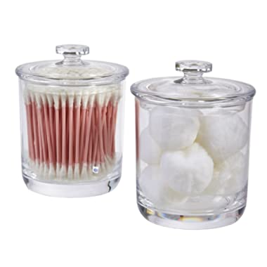 STORi 15-Ounce Premium Quality Clear Plastic Apothecary Jar | 2 Pack