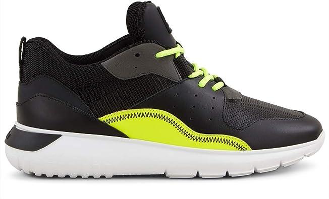 Hogan Interactive Cube 3 Zapatillas de Hombre HXM3710AQ16KGE746F Zapatillas Running Deportivas Gimnasia de Piel Negro Amarillo Flúor Calzado Paseo Casual Cómodas Nuevas Blanco Size: 10: MainApps: Amazon.es: Zapatos y complementos