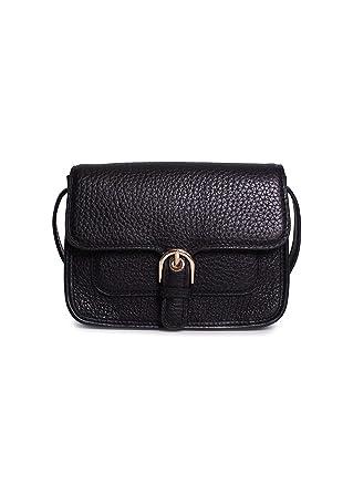 972a40ed0dc40c Amazon.com: MICHAEL Michael Kors Womens Cooper Leather Pebbled Crossbody  Handbag Black Small: Clothing