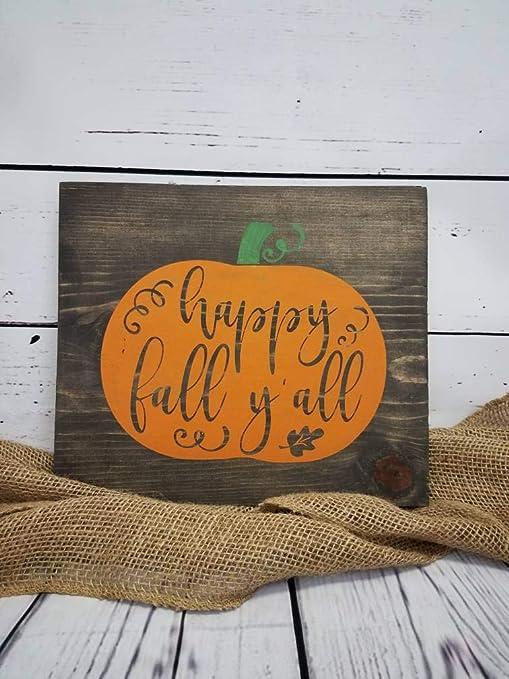 prz0vprz0v - Cartel de Madera con Texto en inglés Happy Fall ...