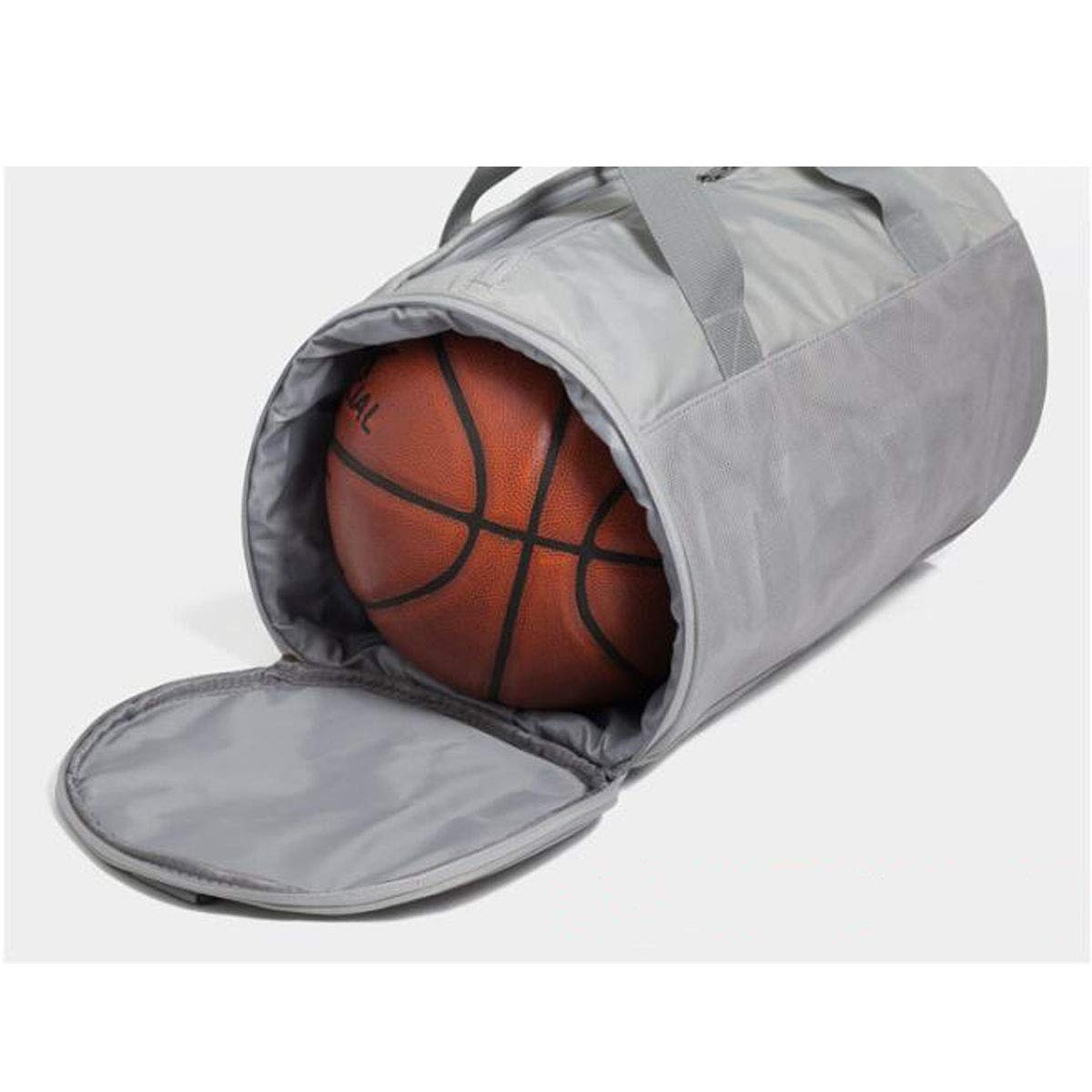 Color : Gray, Size : 2010.410.4 inch. Sports Bag Large Size: 502626cm Portable Basketball Bag Sports Training Bag for Men and Women Dry and Wet Separation Travel Bag