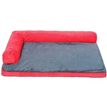 Cama de perro Grande Lavable, Cama ortopédica para Mascotas, para Perros pequeños, Grandes y medianos, Tapa extraíble, Rojo (Tamaño : 100×90cm): Amazon.es: ...