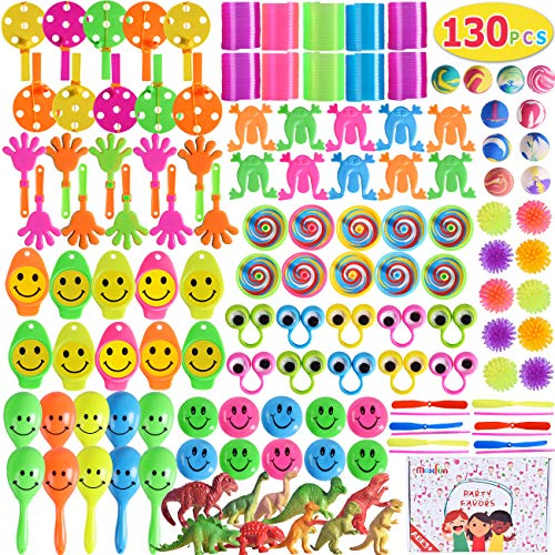 Max Fun 130Pcs Random Color Assortment Toys for Kids Birthday Party Favors Prizes Box Toy Assortment Classroom