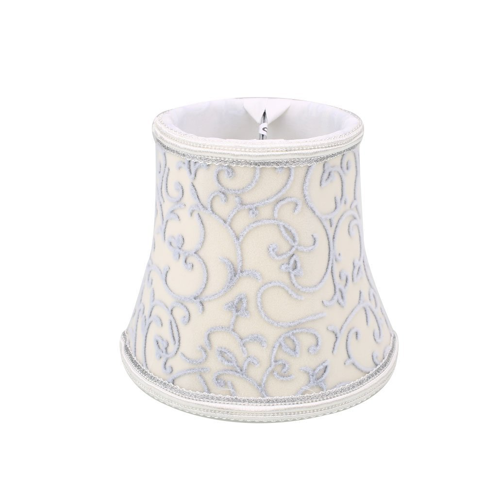 Gladle European Vintage Style Lamp Shade For Wall Sconce Chandelier Candle Crystal Lamp(Beige)