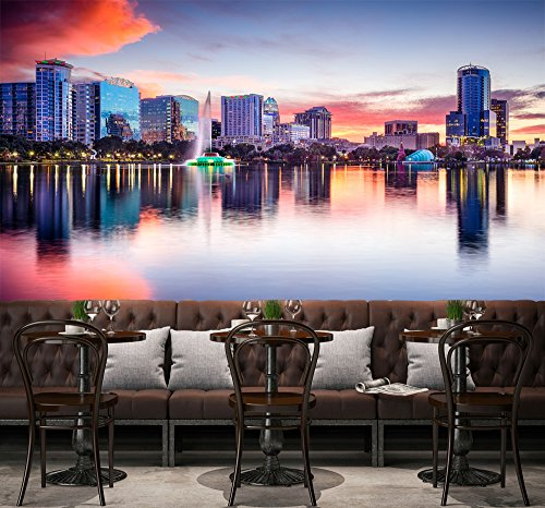 - 3D Evening City Sea 775 Wall Paper Wall Print Decal Wall Deco Indoor wall Murals Removable Wall Mural | Self-adhesive Large Wallpaper , AJ WALLPAPER Carly (205
