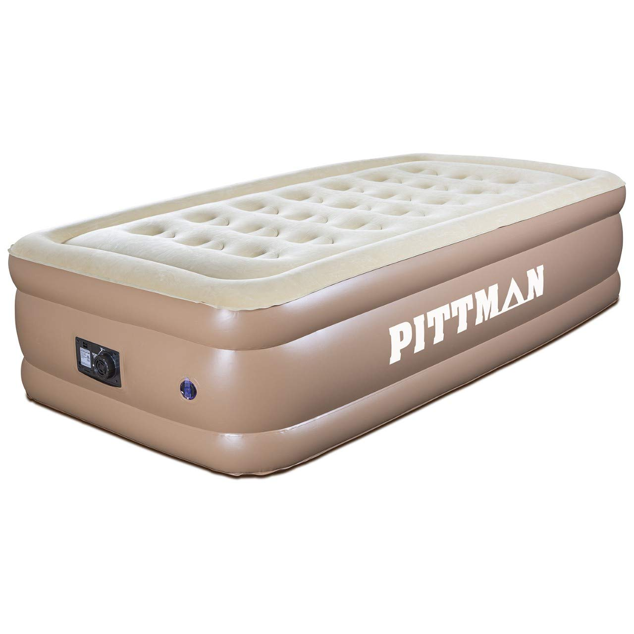 18 Inflatable Mattress with Flocked Top Best Blow Up Mattress Air Bed for Guests and Traveling Pittman Outdoors Twin Air Mattress with Built in Pump