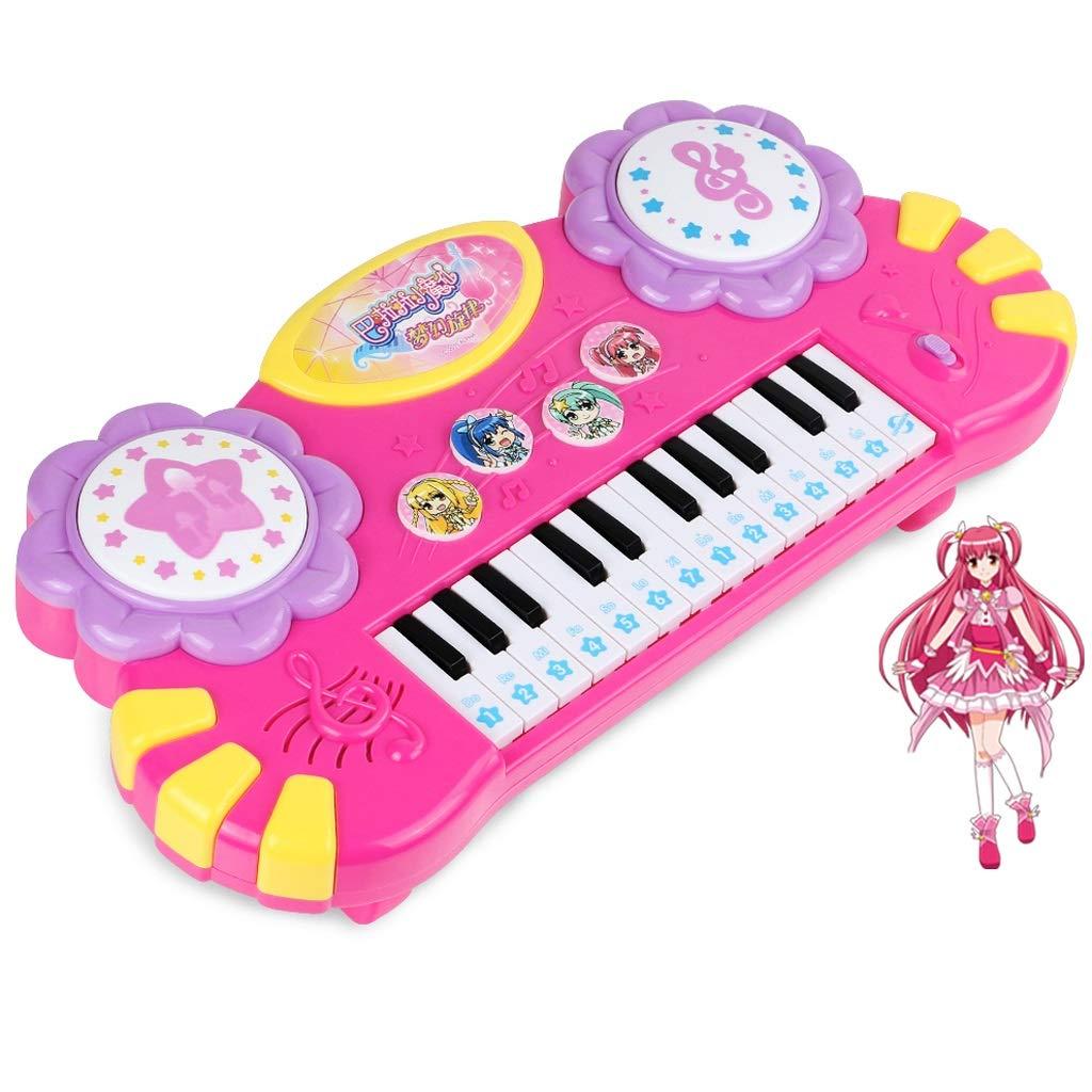 Bambino Infantile Pianoforte Bambino Puzzle Educazione precoce Piccola Tastiera di Fata Magica può Giocare Giocattolo Ragazza Toy Piano 1-3 Anni (colore   rosa)
