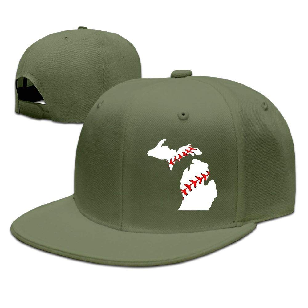 DAIAII Hombre Mujer Gorras de béisbol, Baseball USA Michigan State ...
