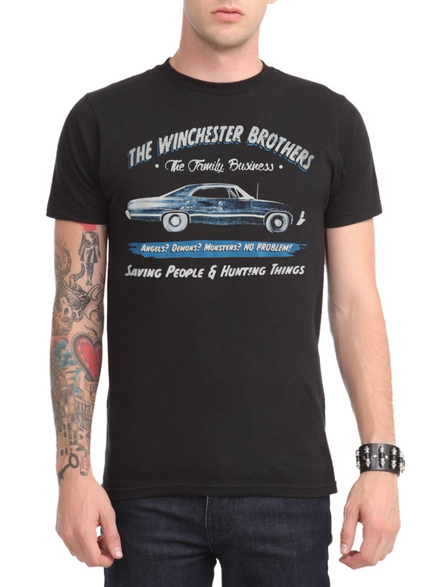 Supernatural Business Ad T-Shirt by Hot Topic
