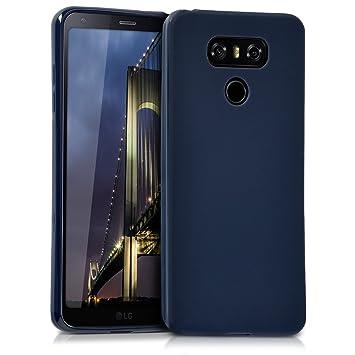 kwmobile Funda para LG G6 - Carcasa para móvil en [TPU Silicona] - Protector [Trasero] en [Azul Oscuro Mate]