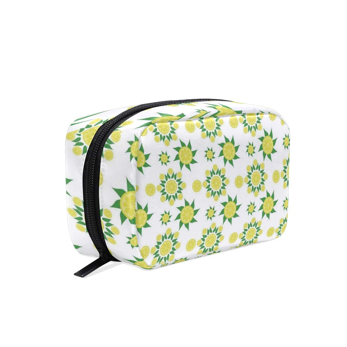 4b5c1ae3431e Amazon.com : Cosmetic Bag Lemon Flower Girls Makeup Organizer Box ...