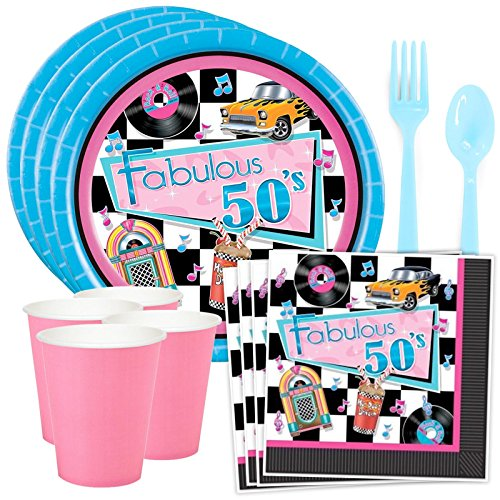 Costume SuperCenter 50's Birthday Party Decorations (8 Guests)