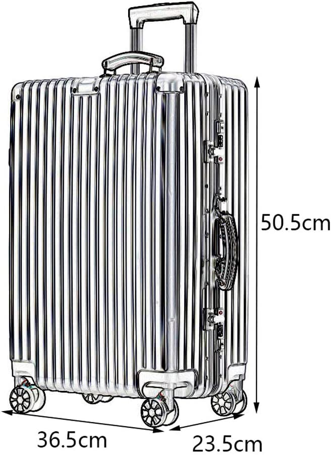 aluminum alloy edging adjustable lever stylish small fresh retro glossy universal caster student large capacity password suitcase MING REN Luggage Sets Trolley case ABS//PC 2 sizes ava 4 colors