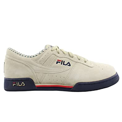 best sneakers 463f0 5c890 Fila Men s Original Fitness PS Fila Cream Fila Navy Fila Red 9.5 ...