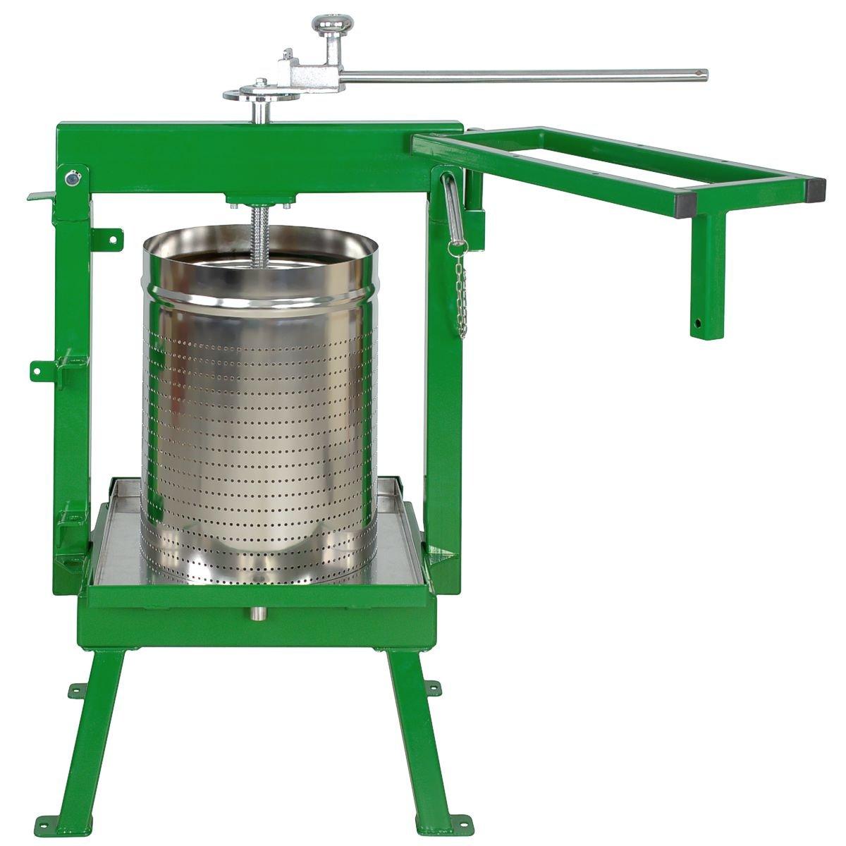 Glenwood Fruit Press 36 Liter-GSAM + Stainless Basket